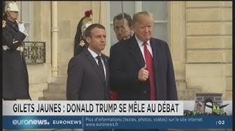 Gilets Jaunes : Trump appelle Macron à se retirer du coûteux Accord de Paris