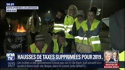 Hausses des taxes supprimées pour 2019 : les gilets jaunes pas convaincus (VIDÉO)