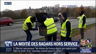 Gilets jaunes : de plus en plus de dégradations de radars
