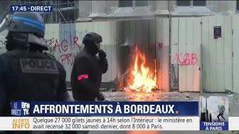 Gilets jaunes : des affrontement ont éclaté à Bordeaux (VIDÉO)