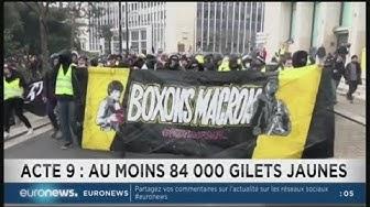 Banderole « BOXONS MACRON 👊 » à la manifestation Gilets Jaunes de Nantes (VIDÉO)