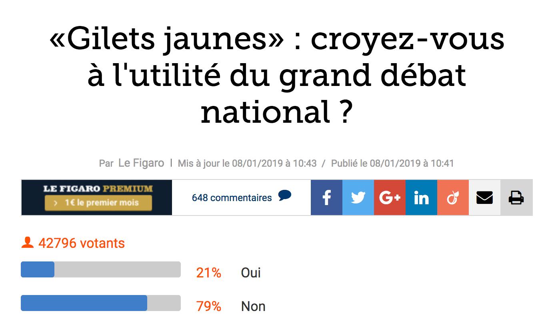 Grand Débat National : Personne (ou presque) n'y croit