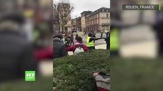 Des journalistes attaqués lors de la manifestation de Gilets jaunes à Rouen (VIDÉO)