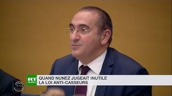 Quand le secrétaire d'État Laurent Nunez jugeait « sans effet » une loi anti-casseurs (VIDÉO)