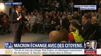 """Macron répond à un Gilet Jaune sur son élection : """"J'ai été élu par le peuple"""" (VIDÉO)"""