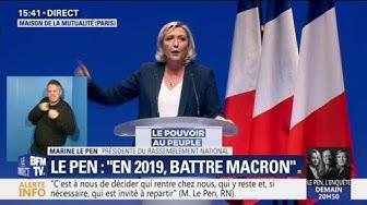 """Marine Le Pen : """"Avec nous, l'Aquarius n'abordera pas sur les côtes européennes"""" (VIDÉO)"""