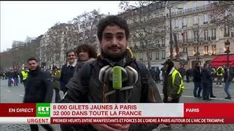 Les Gilets jaunes repoussés sur les Champs-Élysées (VIDÉO)
