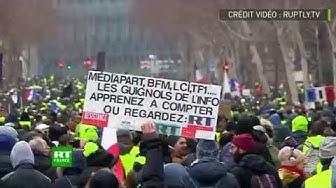 « Apprenez à compter ou regardez RT » : les Gilets jaunes lancent un message aux merdias français (VIDÉO)