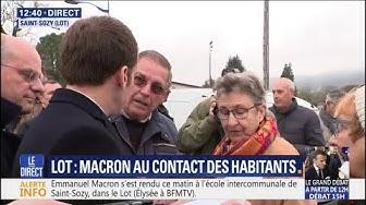 """""""Pourquoi j'ai 100 euros de moins ?"""" À Saint-Sozy, un retraité interpelle Emmanuel Macron sur sa pension (VIDÉO)"""