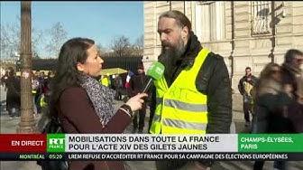 Acte 14 : L'avenue des Champs-Élysées se remplit dans une ambiance festive