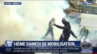 Gilets jaunes : des affrontements éclatent entre manifestants et forces de l'ordre à Paris (VIDÉO)
