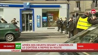 Acte 13 : des banques prises pour cible rue de Rennes à Paris (VIDÉO)