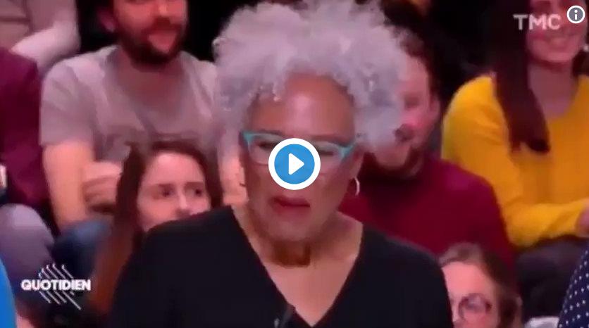"""Dans """"Quotidien"""" de Yann Barthès, une extrémiste noire déclare que « le Blanc est stupide, il ment, il est corrompu, il harcèle les femmes »… Personne ne la force pourtant à rester en France !"""