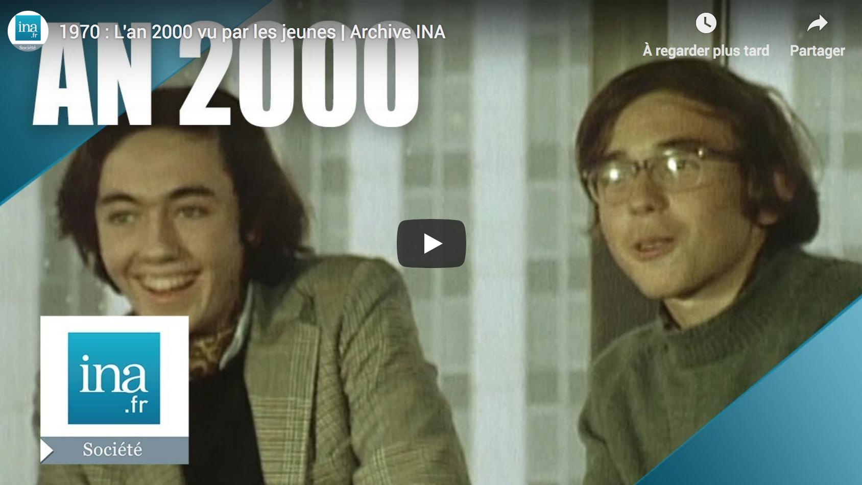L'an 2000 vu par des jeunes en 1962 et en 1970 (VIDÉO)