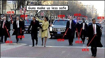 Saletés d'armes à feu qui protègeraient des gens honnêtes !