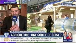"""Le président des """"Jeunes Agriculteurs"""" ne perçoit toujours pas les effets de la loi alimentation (VIDÉO)"""