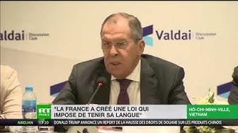 Sergueï Lavrov critique la loi française anti-fake news depuis Hô-Chi-Minh-Ville (VIDÉO)