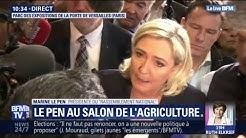 """Au salon de l'Agriculture, Marine le Pen dénonce """"le chaos"""" causé par Macron (VIDÉO)"""