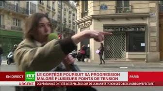Des tensions émaillent du cortège rue de Vaugirard à Paris (VIDÉO)