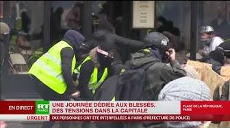 Acte 12 : un street médic raconte qu'il a soigné un manifestant touché à la tête par un tir de LBD (VIDÉO)