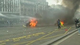 Acte 18 des Gilets Jaunes à Paris : tensions et slogans anti-Macron