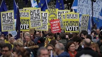 Brexit : Plusieurs centaines de milliers de Britannique violemment anti-démocratie dans les rues de Londres samedi