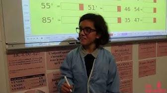 Calcul mental rapide à l'école Sainte-Bernadette de Tarbes (CM1-CM2) (VIDÉO)
