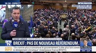 Ouf ! Les députés britanniques votent contre un second référendum sur le Brexit