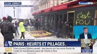Gilets Jaunes : les images du Fouquet's vandalisé sur les Champs-Élysées (VIDÉO)