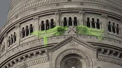Des Gilets Jaunes ont fixé un grand filet jaune au sommet de la basilique du Sacré-Cœur (VIDÉO)