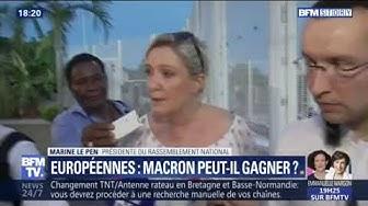 """Pour Marine Le Pen, la liste LREM pour les élections européennes, c'est """"La Foir' Fouille"""""""