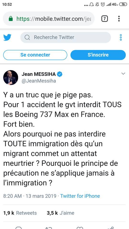 Principe de précaution : valable pour les Boeing mais pas pour l'immigration