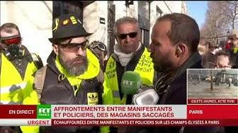 Jérôme Rodrigues satisfait de la mobilisation de l'acte 18 des Gilets Jaunes (VIDÉO)