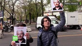 « Libérez Julian Assange » : des manifestants expriment leur soutien au fondateur de WikiLeaks à Paris (VIDÉO)