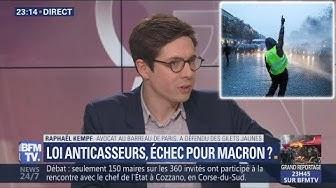 Brillante intervention d'un avocat de Gilets Jaunes après la censure de la loi anticasseurs (VIDÉO)