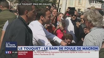 Le bain de foule d'Emmanuel Macron au Touquet suscite les moqueries (VIDÉO)