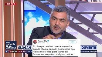 """Sergio Coronado dénonce le tweet de Renaud Dely qui traite les Gilets Jaunes de """"vermines"""" !"""