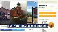 Les dons pour Notre-Dame boostent une cagnotte pour des églises américaines (VIDÉO)
