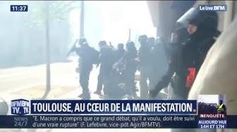 Gilets jaunes : comment les forces de l'ordre ont procédé aux interpellations à Toulouse (VIDÉO)