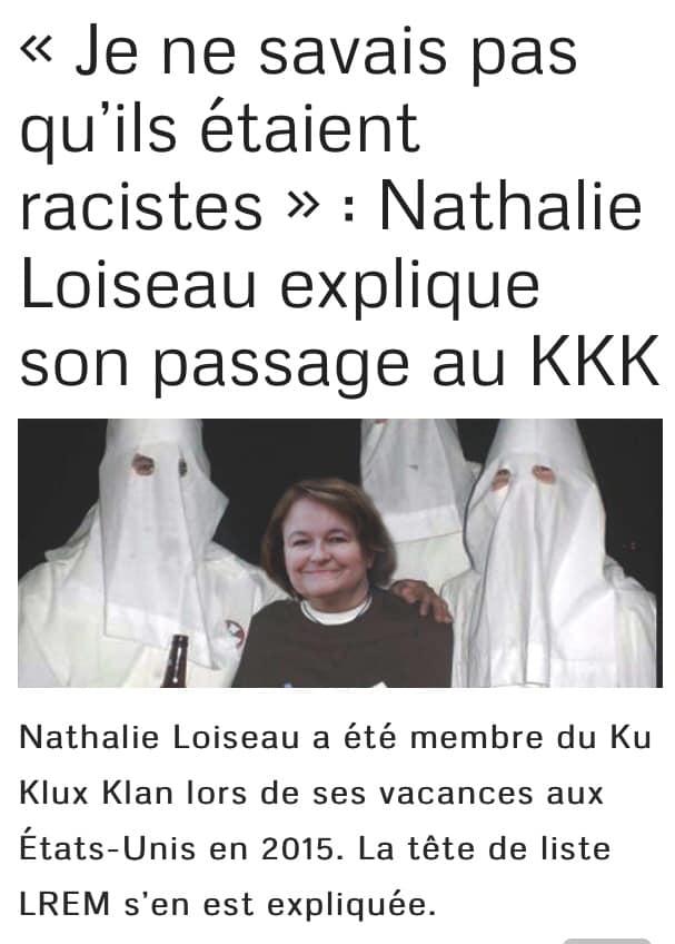 Présence de Nathalie Loiseau sur une liste nationaliste : juste pour rire