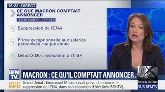Baisse d'impôts, RIC local, suppression de l'ENA : ce que devait annoncer Emmanuel Macron (VIDÉO)