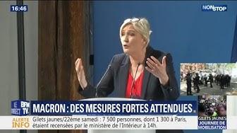 """Marine Le Pen : Emmanuel Macron considère les gilets jaunes comme """"des boulets"""", """"des empêcheurs de tourner en rond"""" et """"des poids morts"""" (VIDÉO)"""