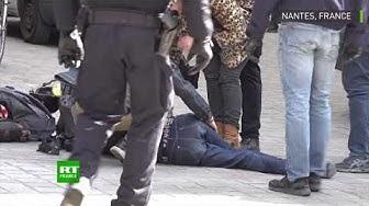 Nantes : l'acte 22 vire à l'affrontement entre police et manifestants, plusieurs blessés (VIDÉO)