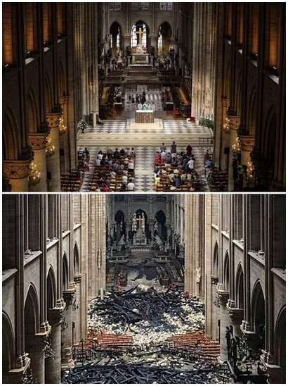 Notre-Dame : avant et après le 15 avril 2019