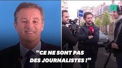 """""""Quotidien"""" refoulé à la conférence de presse de Nicolas Dupont-Aignan (VIDÉO)"""