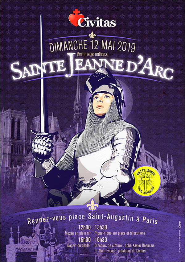 Dimanche 12 mai 2019 : hommage national à Sainte Jeanne d'Arc