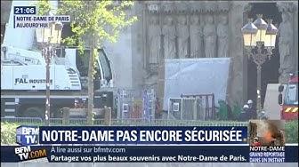 Les tableaux de Notre-Dame de Paris ont été ont presque tous pu être mis à l'abri (VIDÉO)