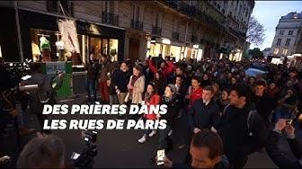Notre-Dame de Paris : les images de la veillée de prière (VIDÉO)