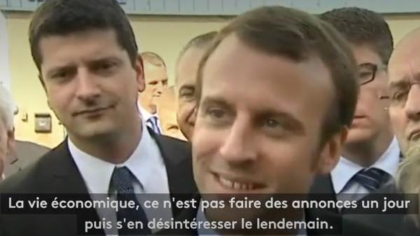 """""""Belfort a un avenir industriel"""" : quand Emmanuel Macron rassurait les salariés d'Alstom en 2015 (VIDÉO)"""