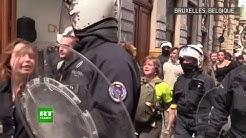 Des interpellations se sont produites lors de la manifestation des Gilets jaunes à Bruxelles (VIDÉO)